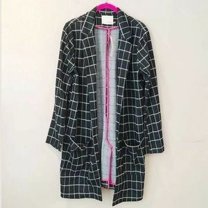 NWT Mustard seed plaid open cardigan